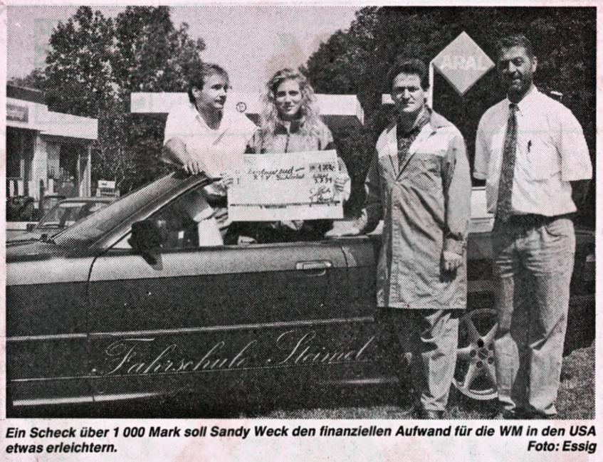 1994 Sandy Weck startet in  Amerika