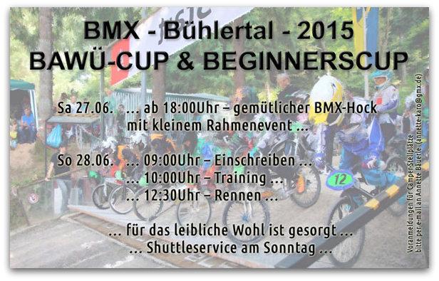 Bühlertäler BMX Fahrer laden ein zum Baden Württemberg Cup