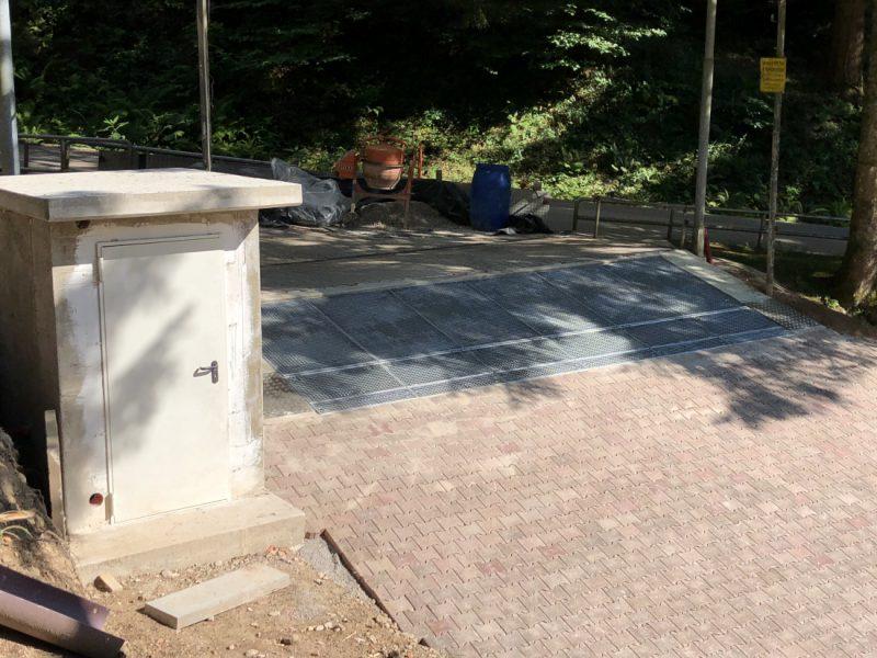 Finale Gate-Einbau