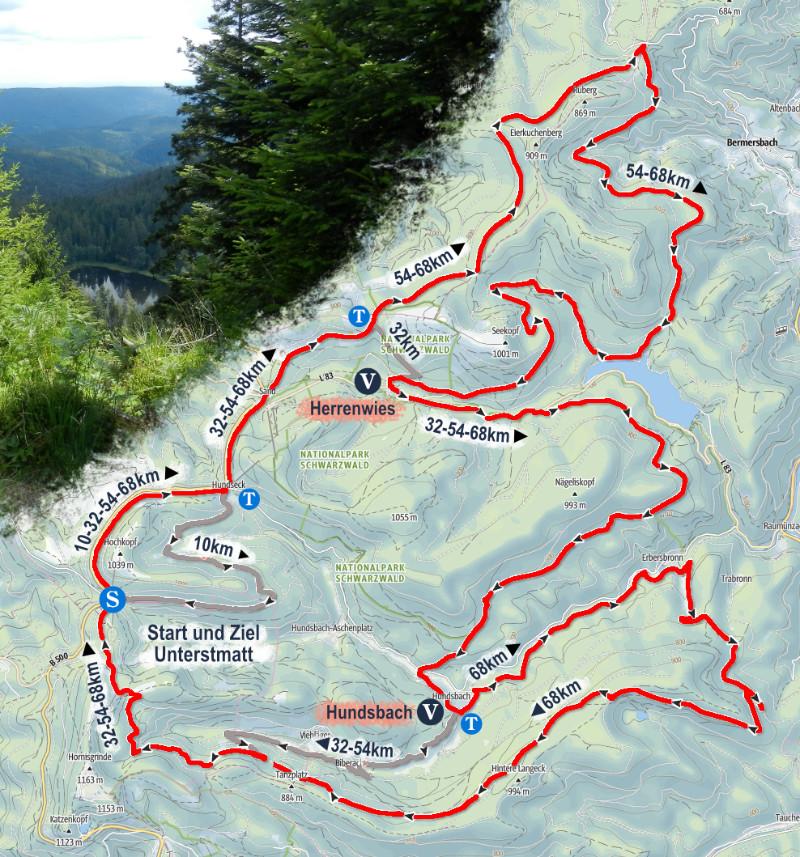 Strecke 68km