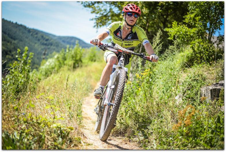 Tanja Rall auf Trails unterwegs