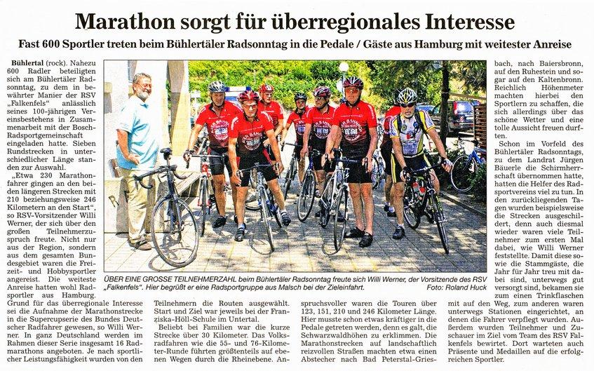 2013 Radsonntagbericht aus dem Acher und Bühler Bote