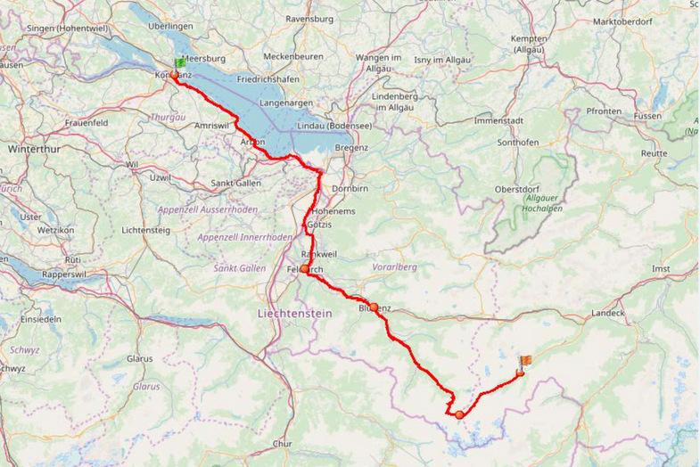 Etappe 1 Konstanz nach Ischgl