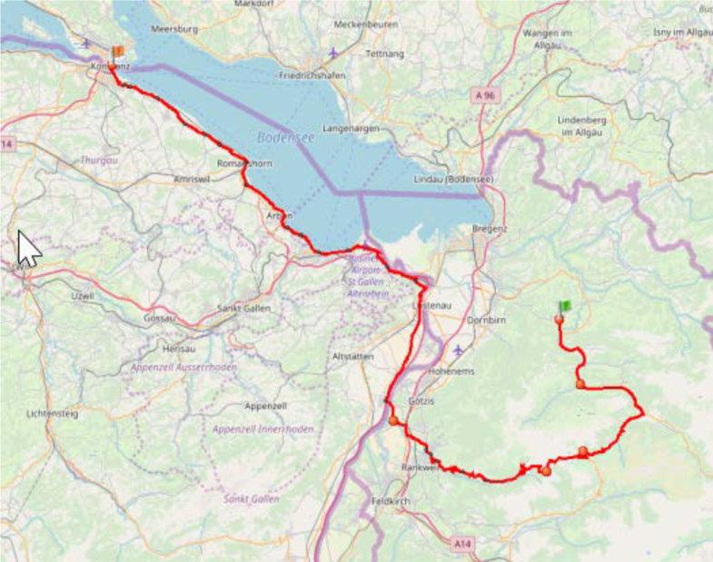 Etappe 5 von Lingenau nach Konstanz