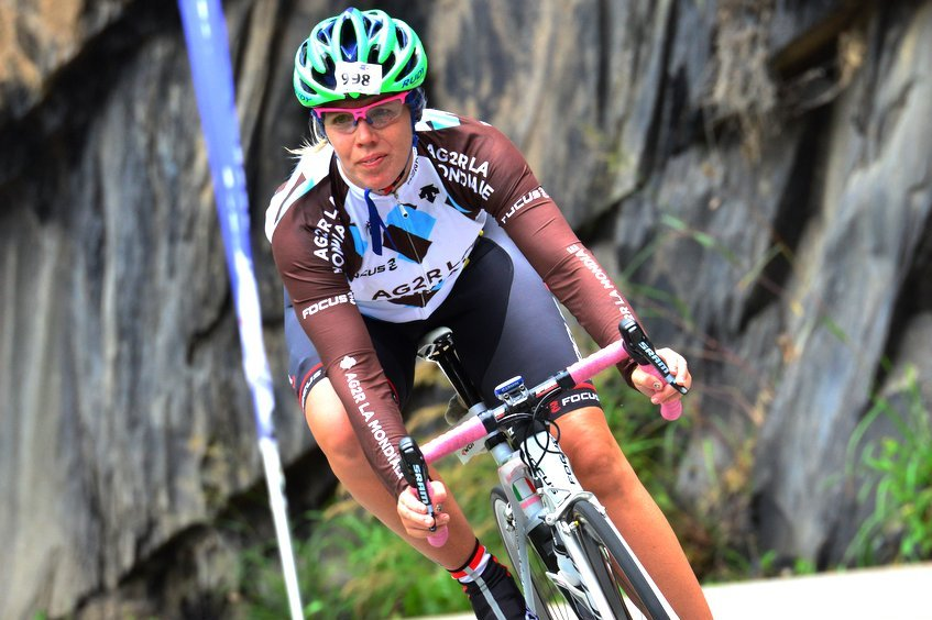 Bühlertälerin beim Triathlon von Alp d' Huez